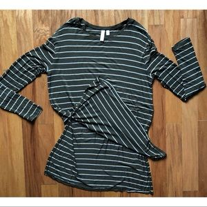 BP Small Green and White Striped Light Shirt